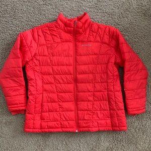 Columbia Puffer Jacket Bright Orange Red Insulated